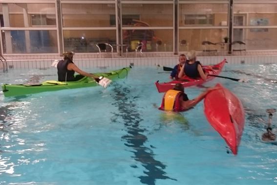 Teknik og redninger i svømmehal